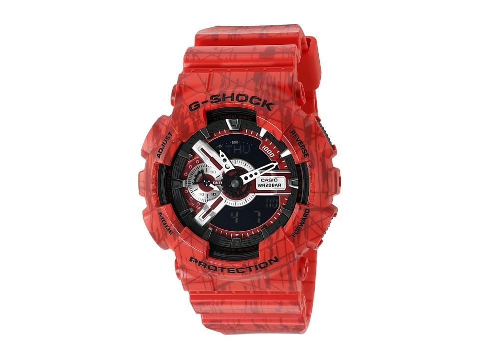 G Shock GA 110SL 4 Red Sport Watches
