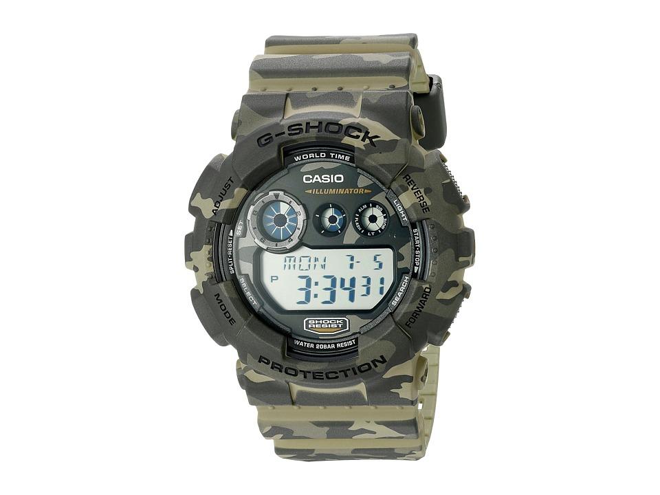 G Shock GD 120CM Brown/Green Sport Watches