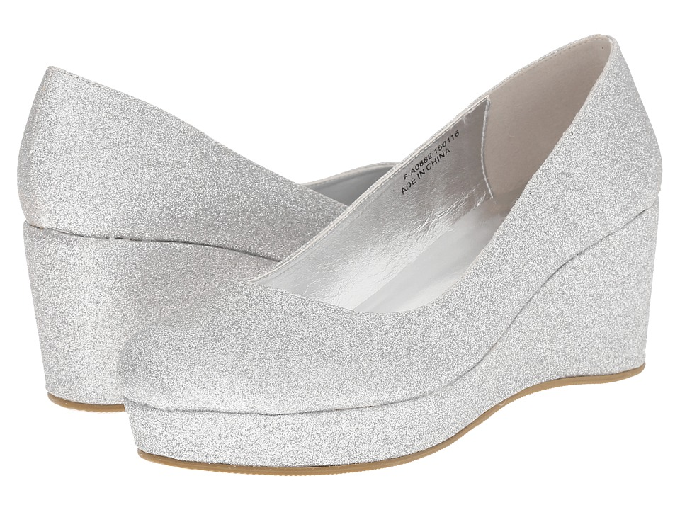 Amiana - 6-A0882 (Little Kid/Big Kid/Adult) (Silver Glitter) Girls Shoes