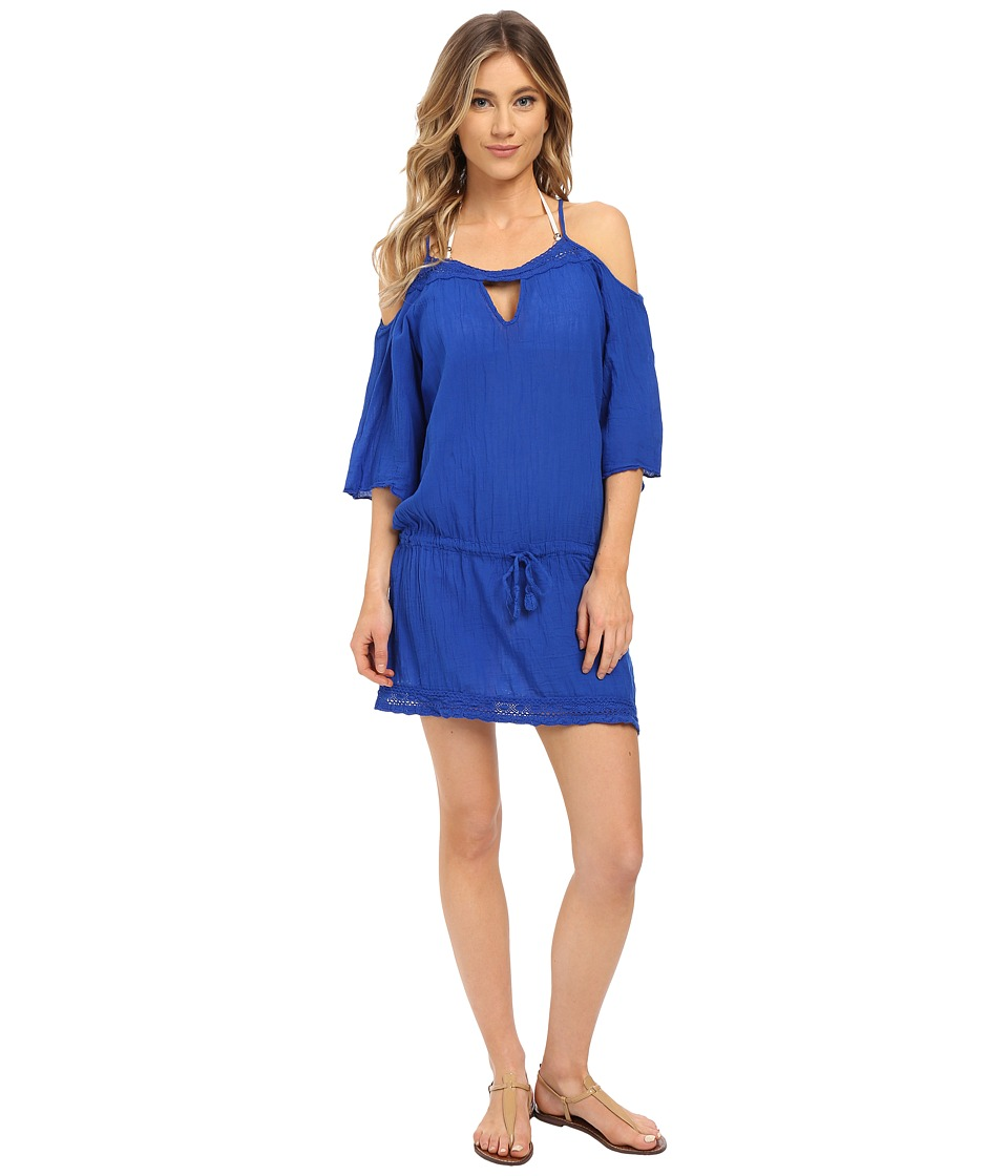 BECCA by Rebecca Virtue Tivoli Tunic Cover Up Electric Blue Womens Swimwear