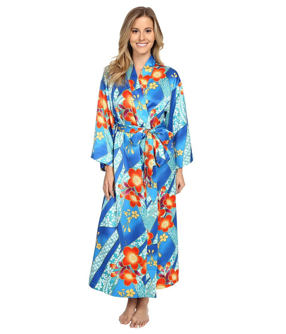 N by Natori Mikoto 46 Robe Blue Note Womens Pajama