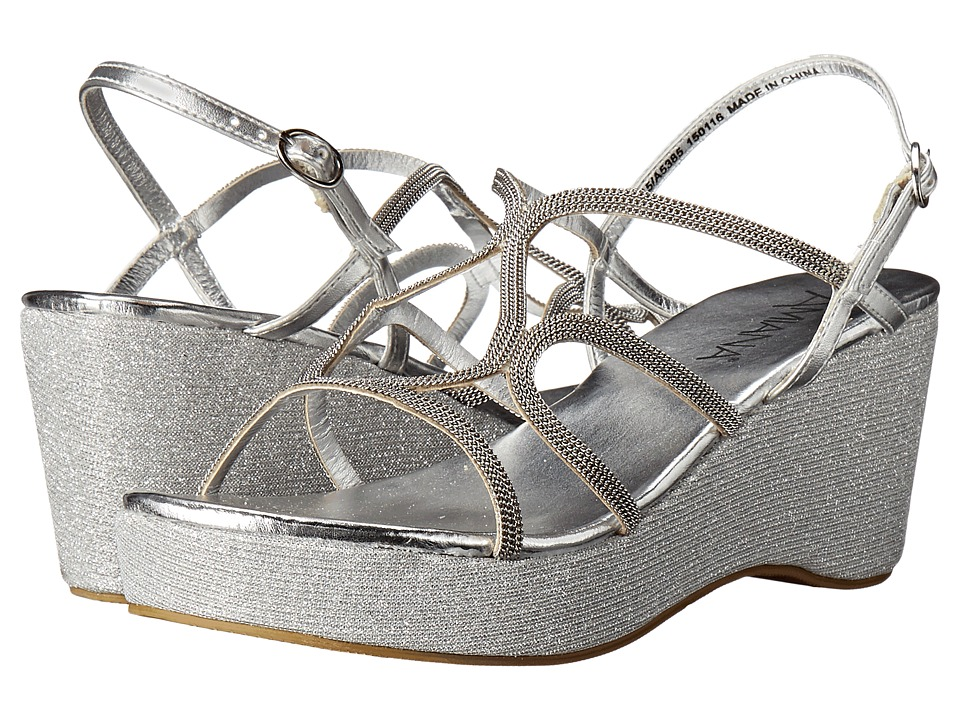 Amiana 15-A5385 (Little Kid/Big Kid/Adult) (Silver Metallic) Girls Shoes
