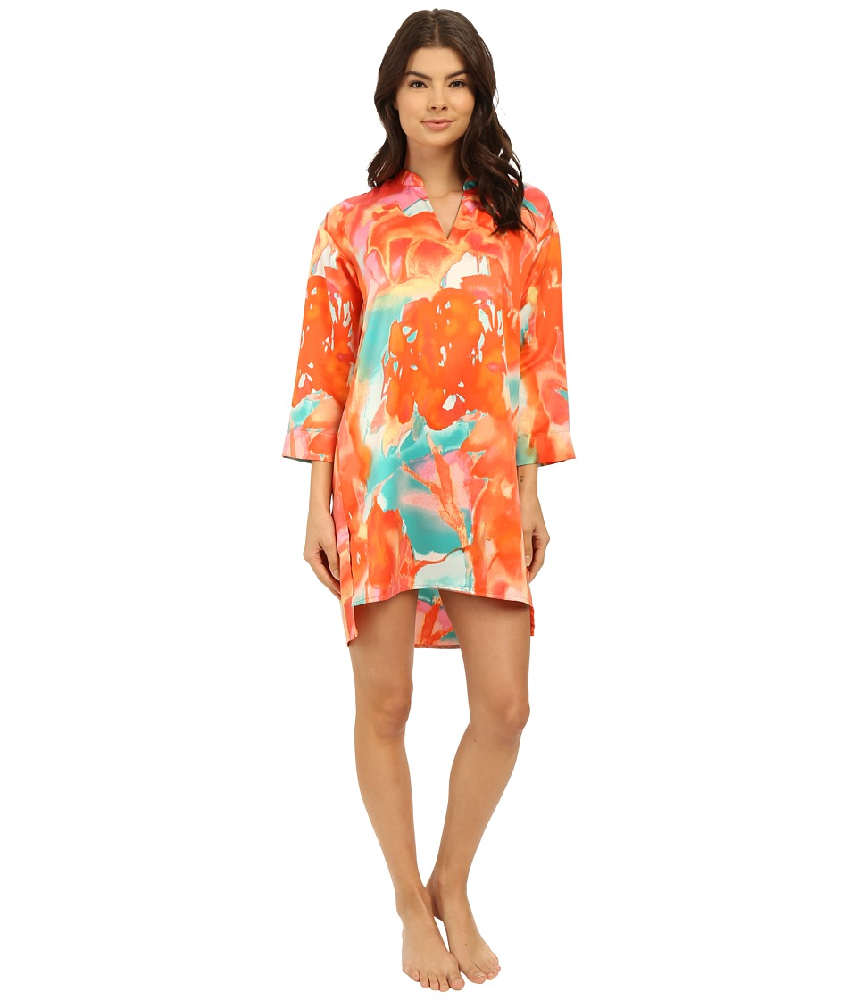 N by Natori Mandarin Sleepshirt Original Orange Womens Pajama