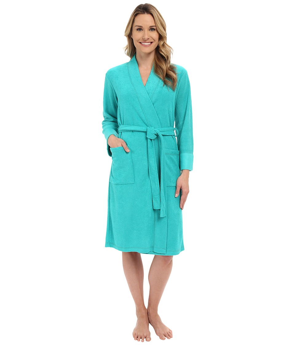 N by Natori N Natori Brushed Terry Nirvana Robe Aquamarine Womens Robe