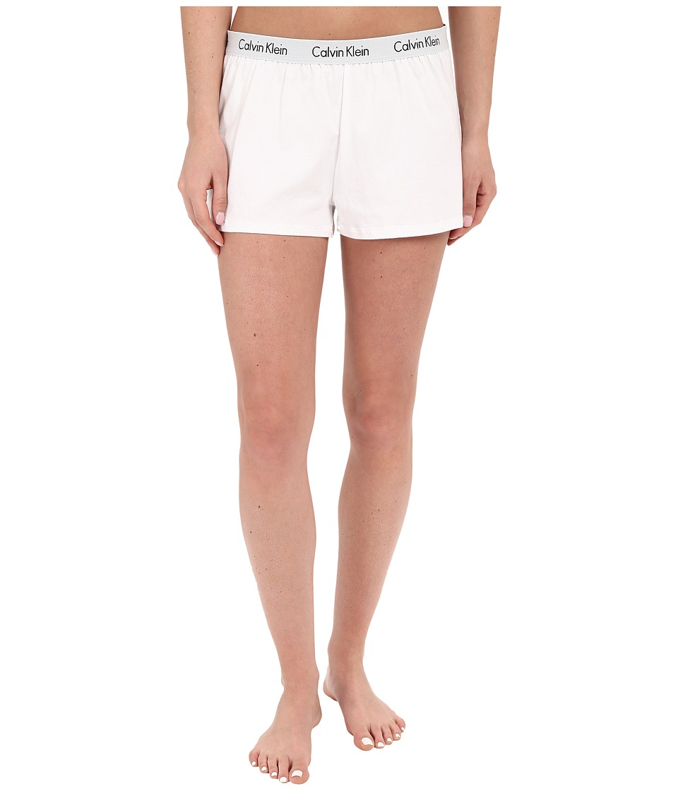 Calvin Klein Underwear - Shift Knit Shorts (White) Women'...
