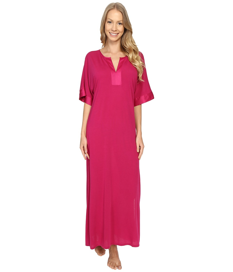 N by Natori Congo Short Sleeve Gown Hibiscus Womens Pajama