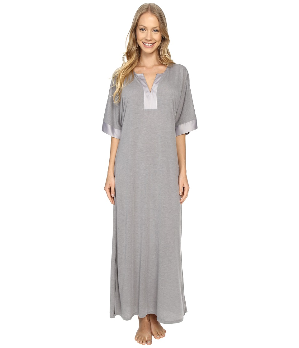 N by Natori Congo Short Sleeve Gown Light Grey Womens Pajama