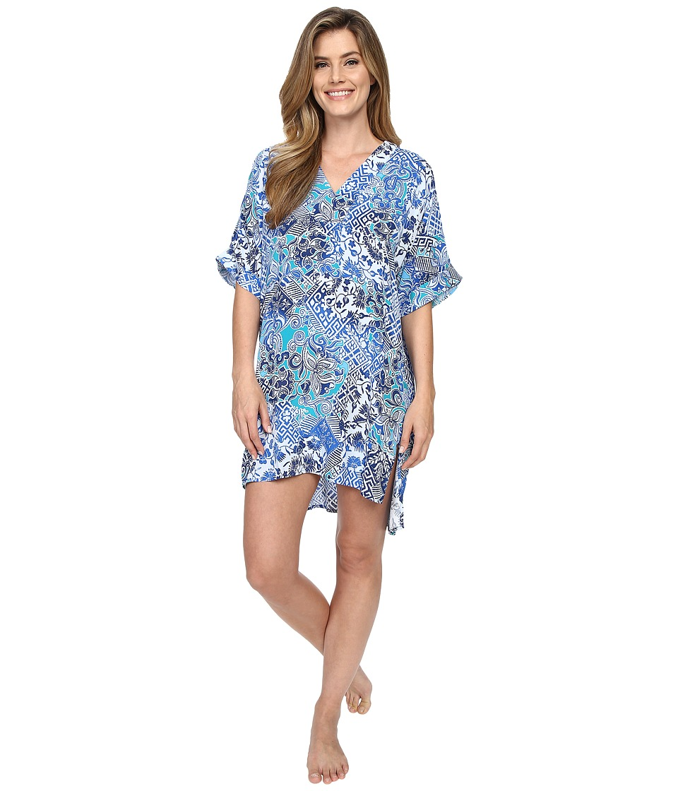 N by Natori Mosaic Meadow Sleepshirt Blue Womens Pajama