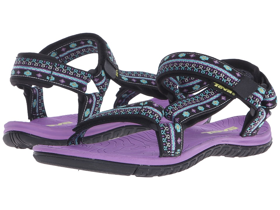 Teva Kids Hurricane 3 Little Kid/Big Kid Hippie Black/Purple Girls Shoes