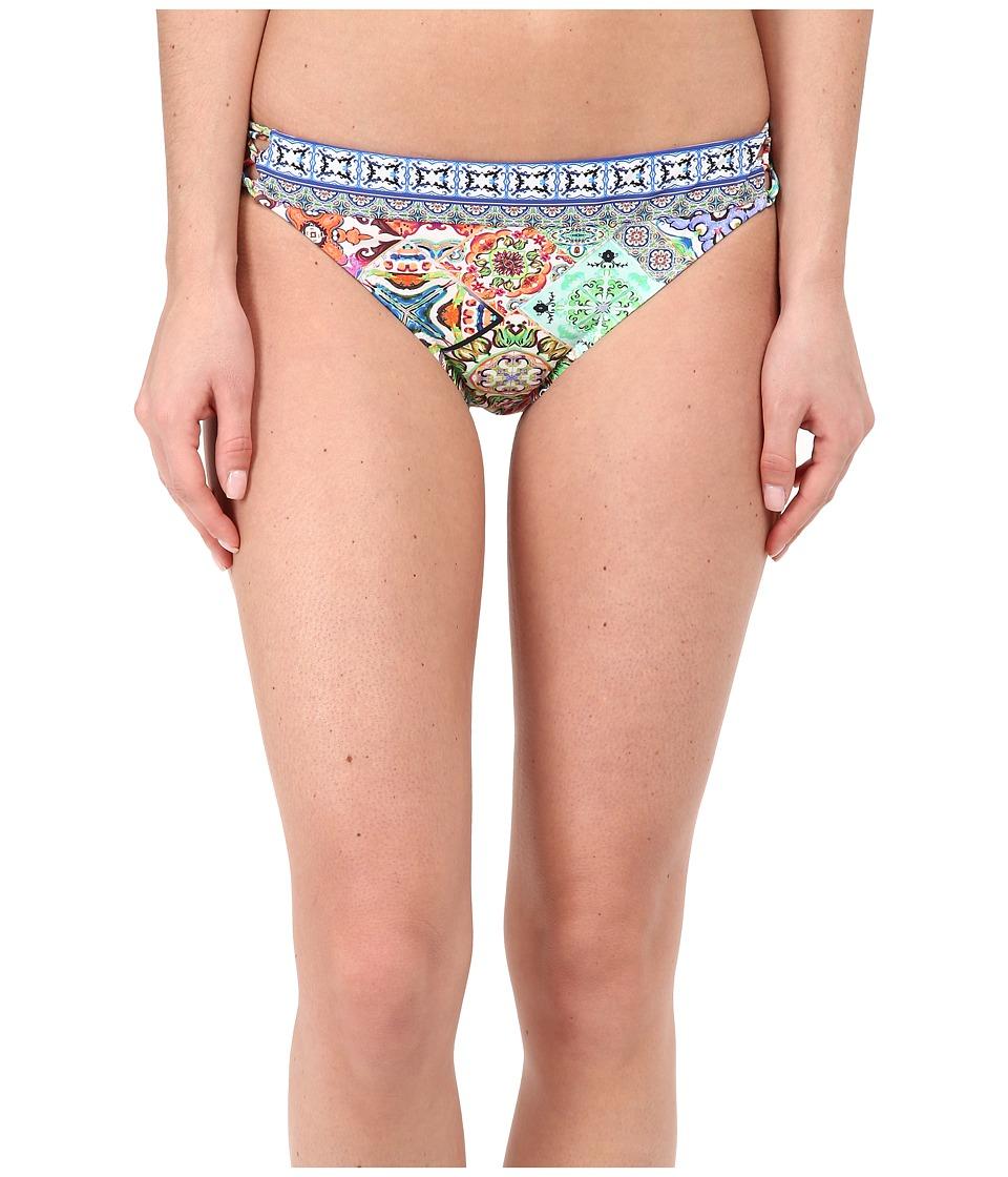 Nanette Lepore Greek Tiles Charmer Bottoms Multi Womens Swimwear