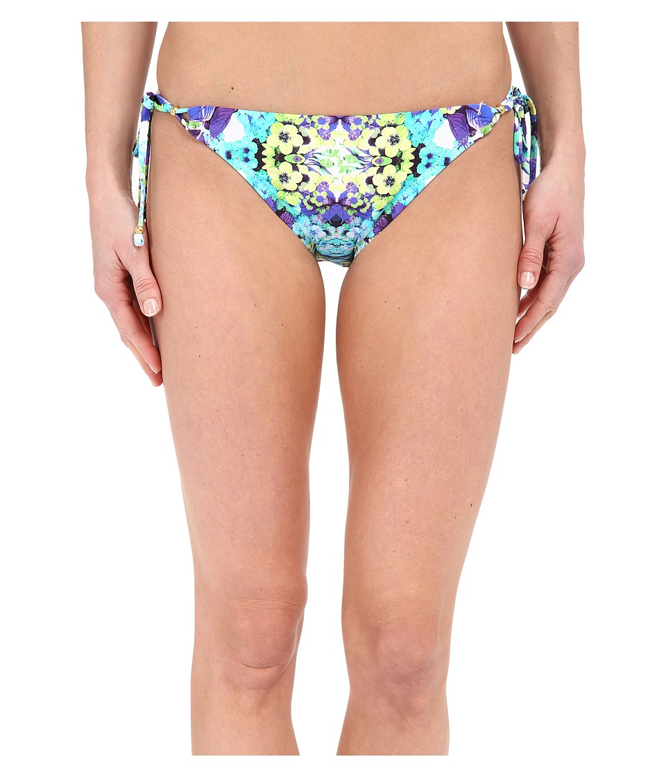 Nanette Lepore Kamari Reflection Vamp Bottoms Aquamarine Womens Swimwear