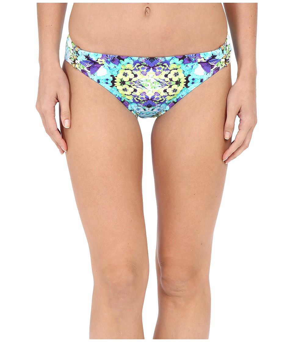 Nanette Lepore Kamari Reflection Charmer Bottoms Aquamarine Womens Swimwear