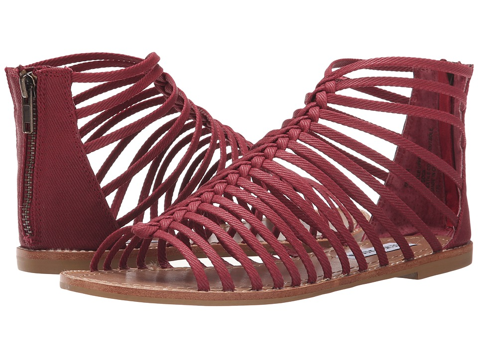 Steve Madden Kaster Burgundy Womens Sandals