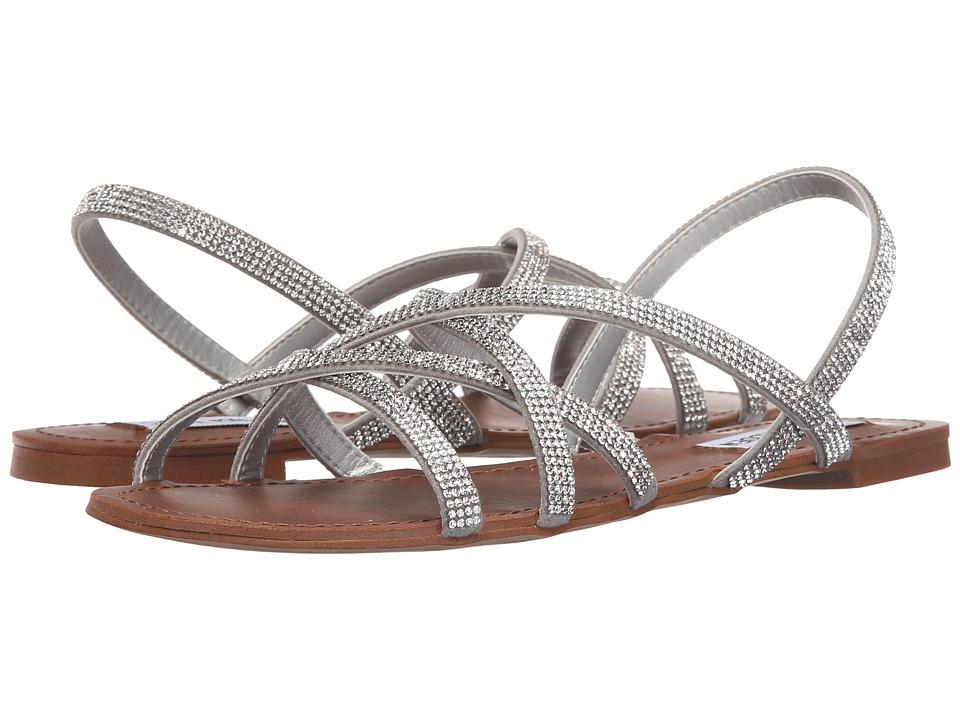 Steve Madden Zippie Silver Womens Sandals