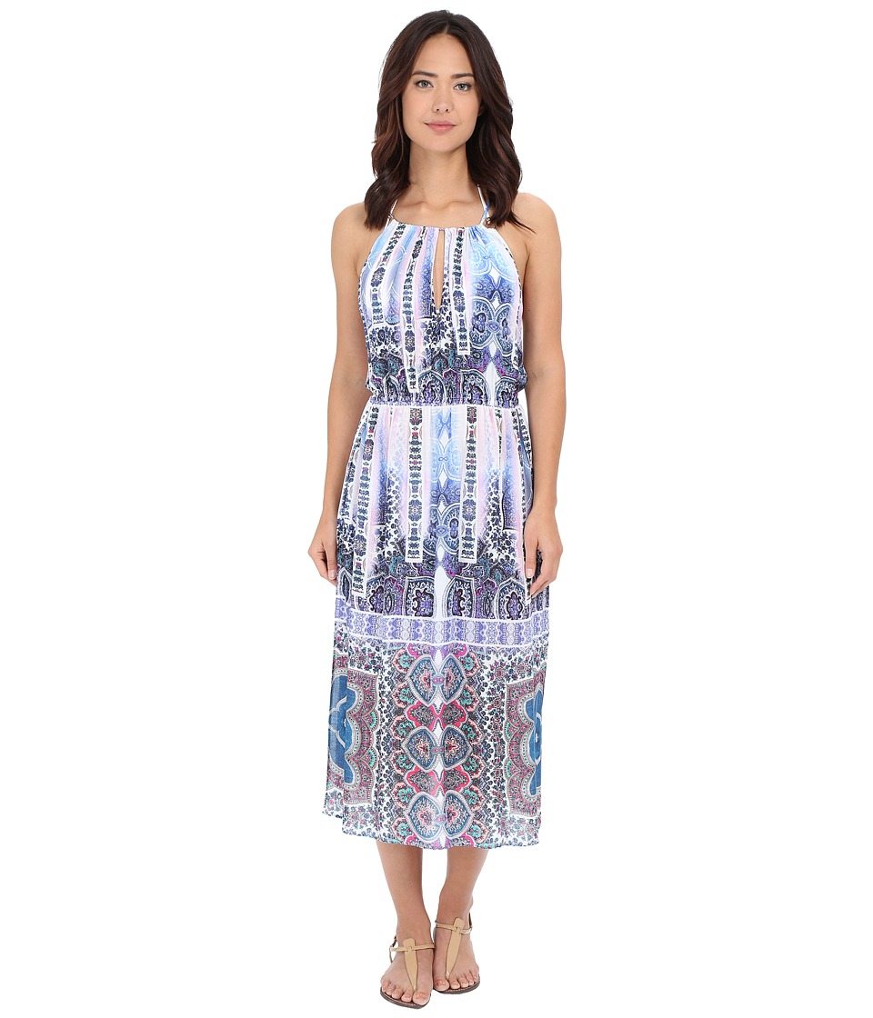 Nanette Lepore Paros Paisley Midi Dress Cover Up Multi Womens Swimwear