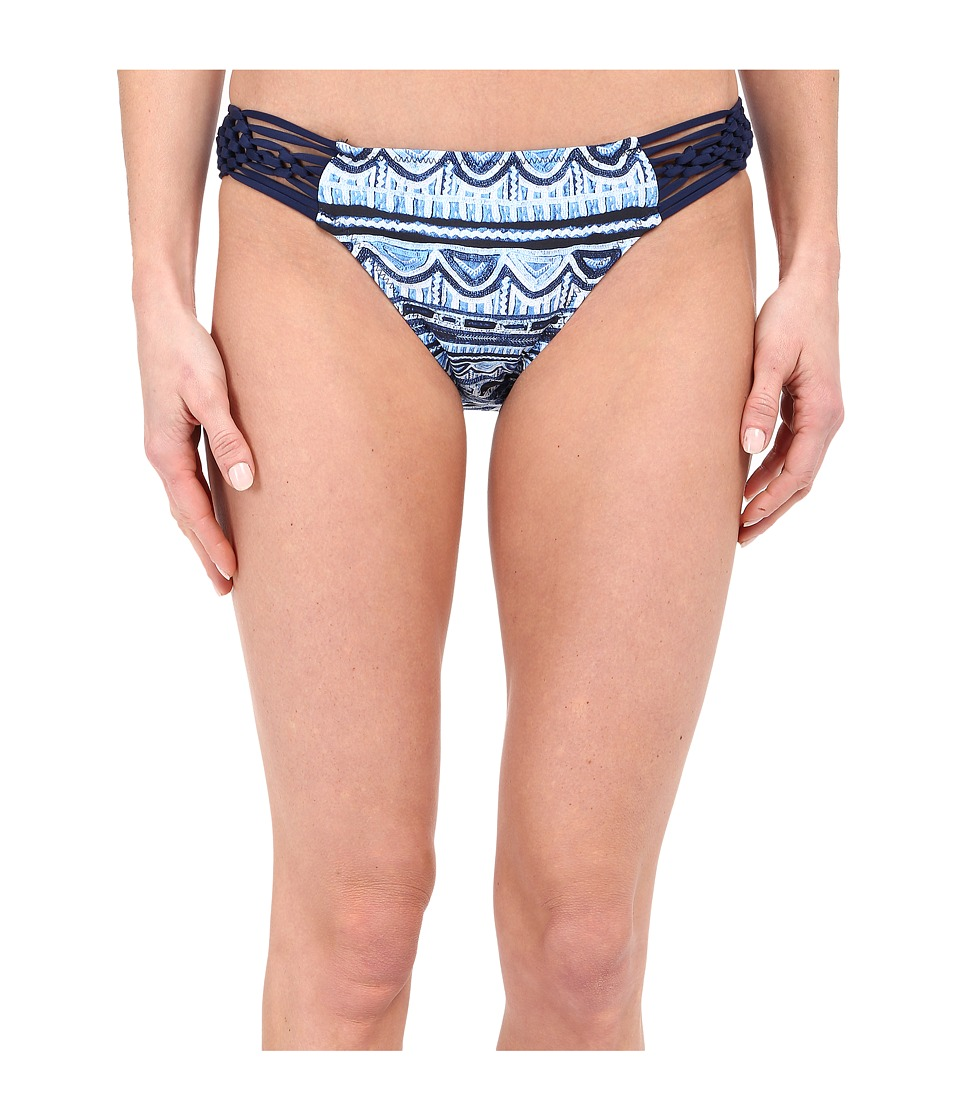 Nanette Lepore Santorini Scallop Charmer Bottoms Indigo Womens Swimwear