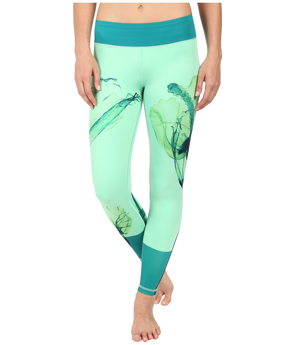 adidas Workout Mid Rise Long Tights Around The World Prints at