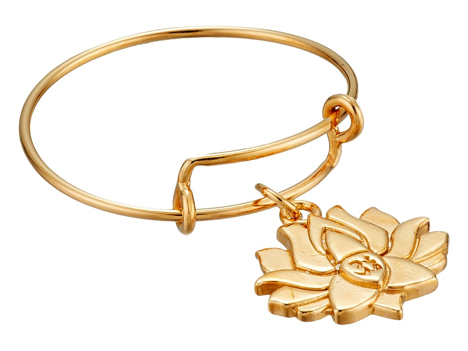 Alex and Ani - Precious Expandable Wire Ring (Gold Lotus Peace Petals) Ring
