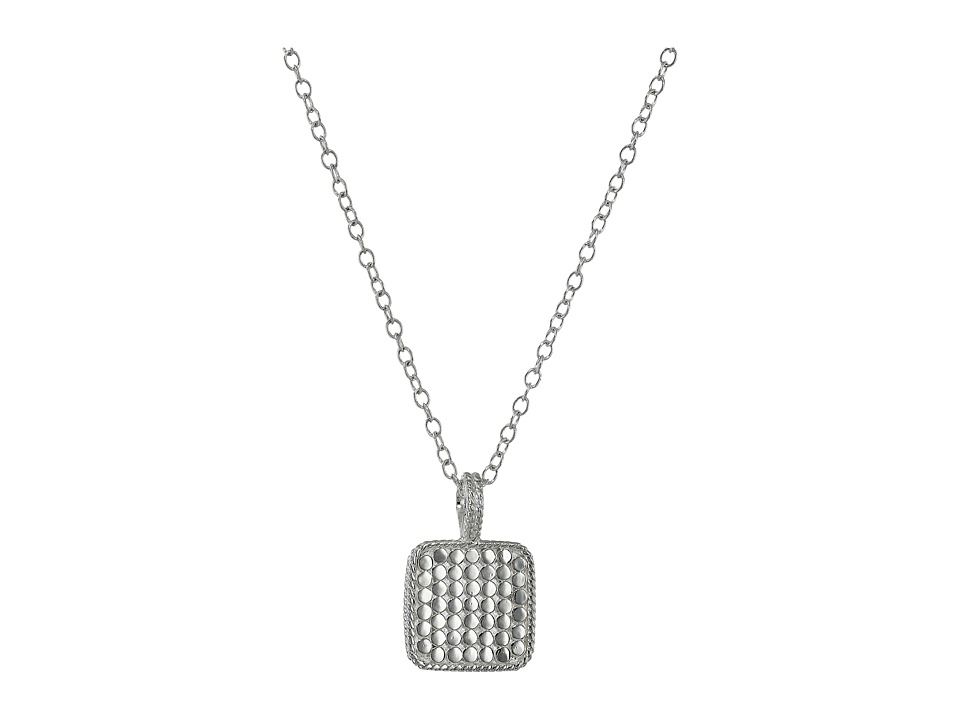 Anna Beck Double Sided Square Charm Necklace Sterling Silver Necklace