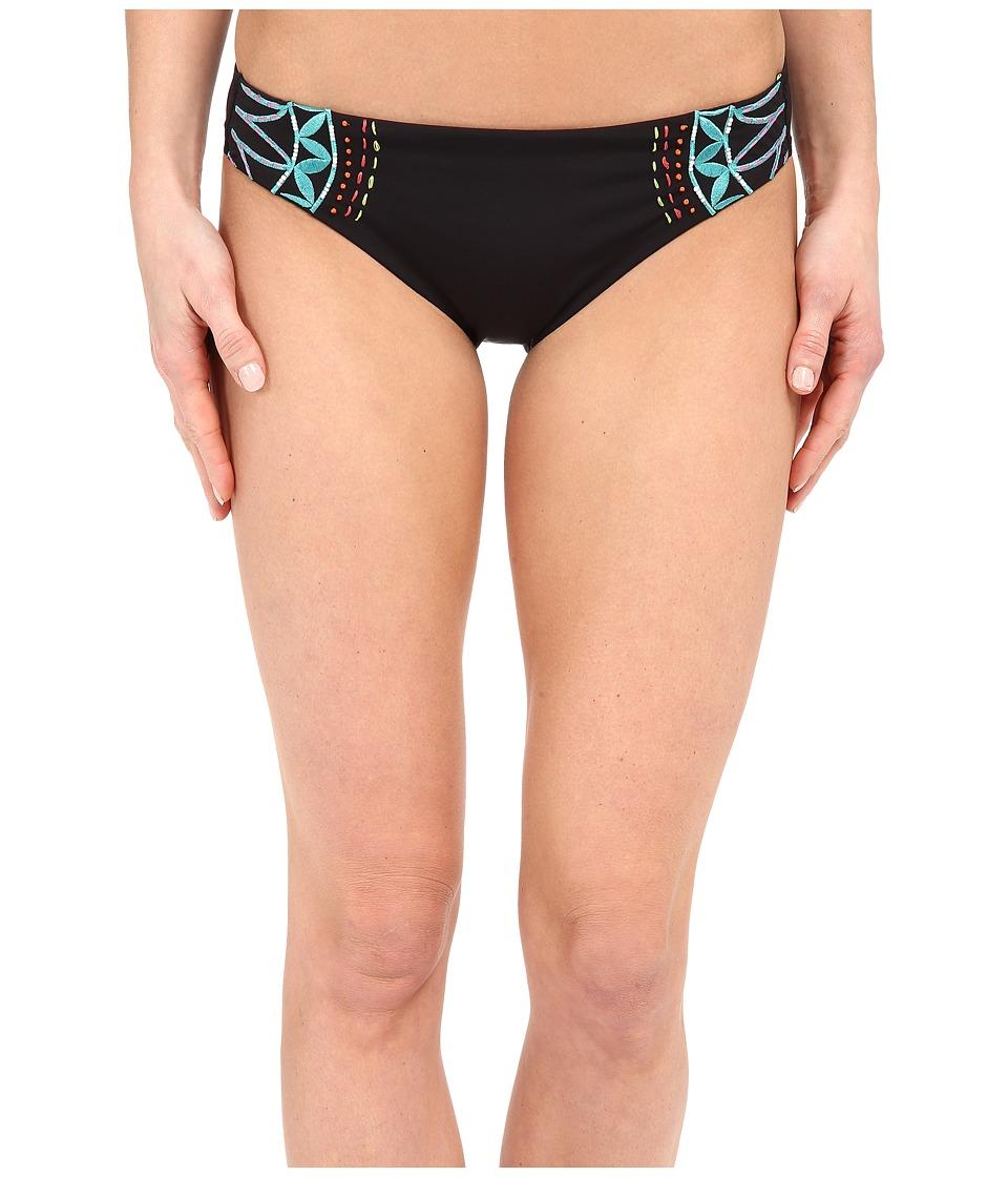 Nanette Lepore Mantra Embroidery Charmer Bottoms Black Womens Swimwear