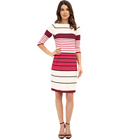 Donna Morgan - 3/4 Sleeve Striped Scuba Shift Dress