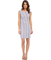 Donna Morgan - Short Sleeve Rouch Side Zip Shoulder Jersey Dress