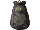 Hurley Honor Roll Printed Backpack (Iguana/Black Forest/Turkish Coffee/Black/Neon Green)