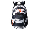 Hurley One and Only Printed Backpack (White/Black/Hyper Orange)