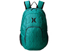 Hurley One and Only Printed Backpack (Radiant Emerald/Squadron Blue/Black)