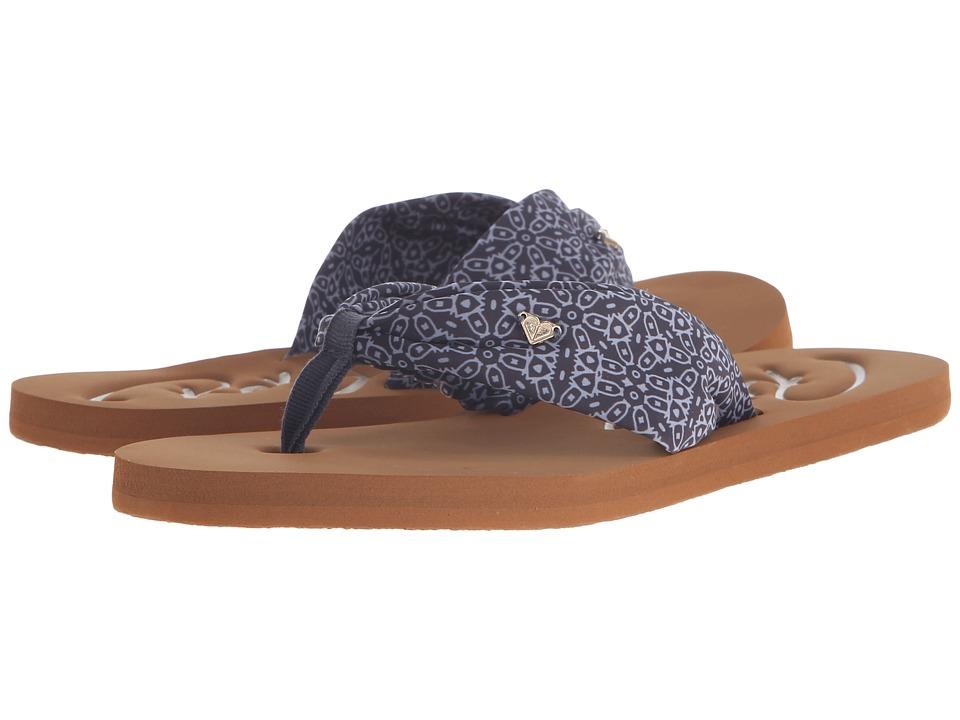 Roxy Caribe II Black/White Womens Sandals
