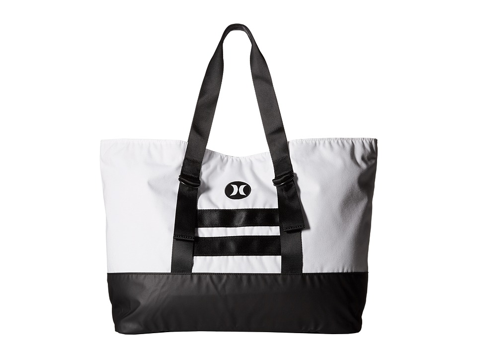 Hurley Beach Active Tote 2.0 White/Black/White Tote Handbags