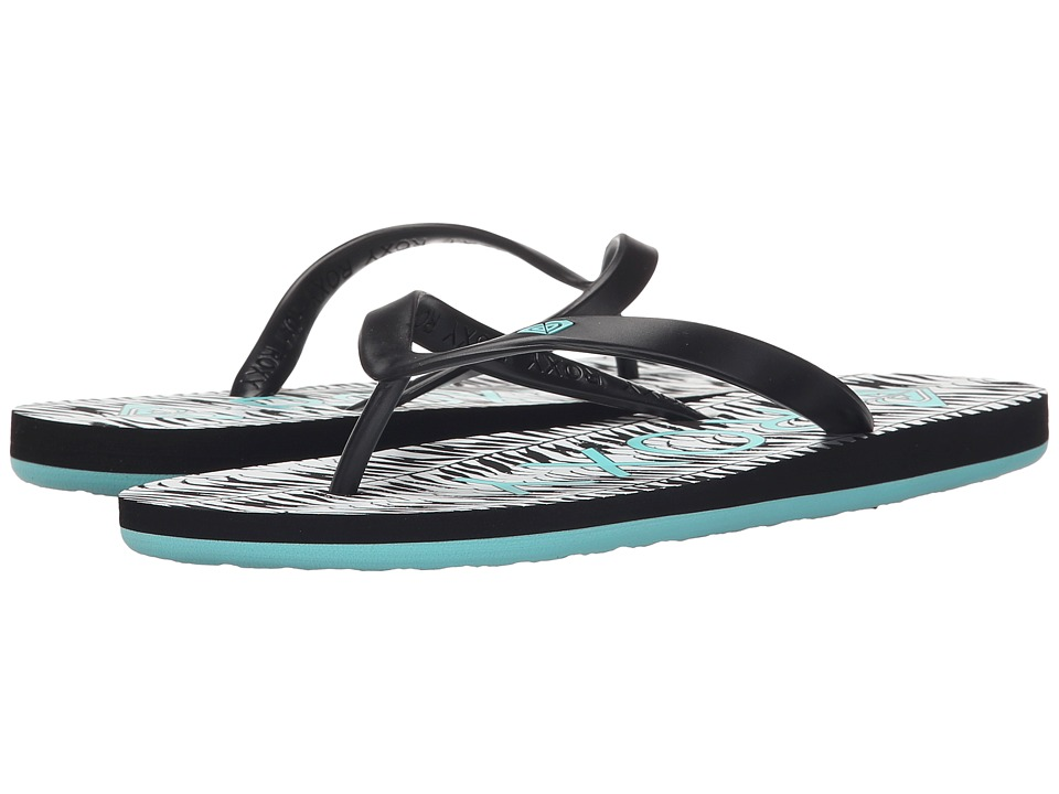 Roxy Tahiti V Black/Aqua Womens Shoes