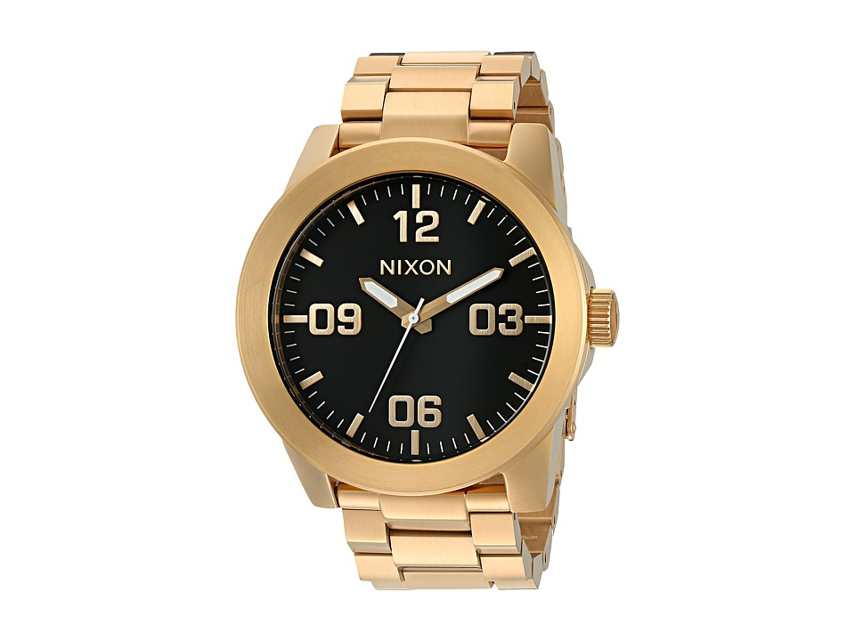 Nixon - Corporal SS (All Gold/Black) Watches