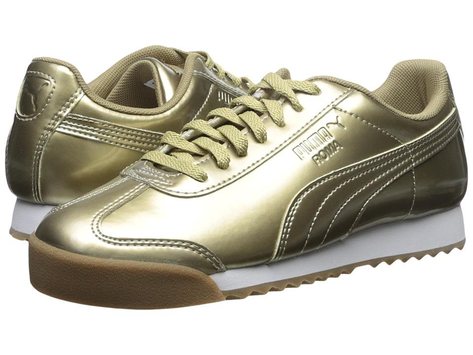 Puma Kids - Roma PNT ANO (Little Kid/Big Kid) (Metallic Gold/White) Girls Shoes