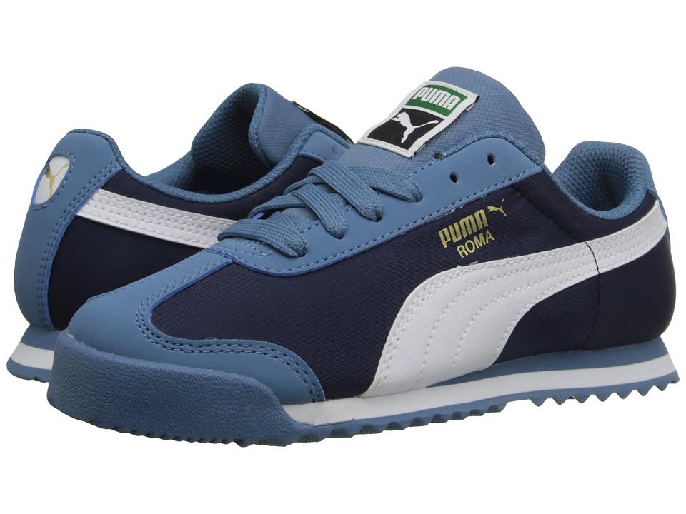 Puma Kids - Roma Basic Summer (Toddler/Little Kid/Big Kid) (Blue Heaven/White) Boys Shoes