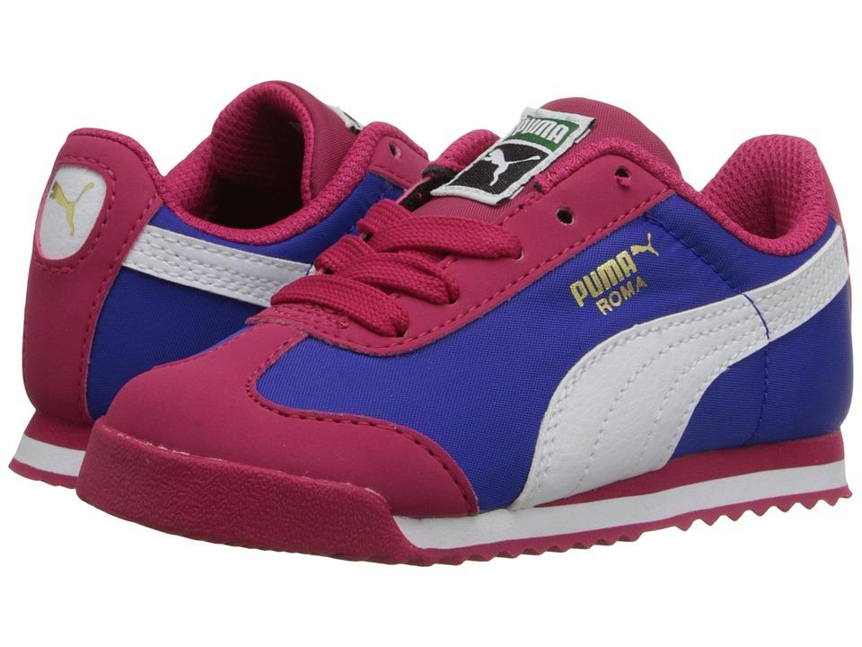 Puma Kids - Roma Basic Summer (Toddler/Little Kid/Big Kid) (Rose Red/White) Girls Shoes