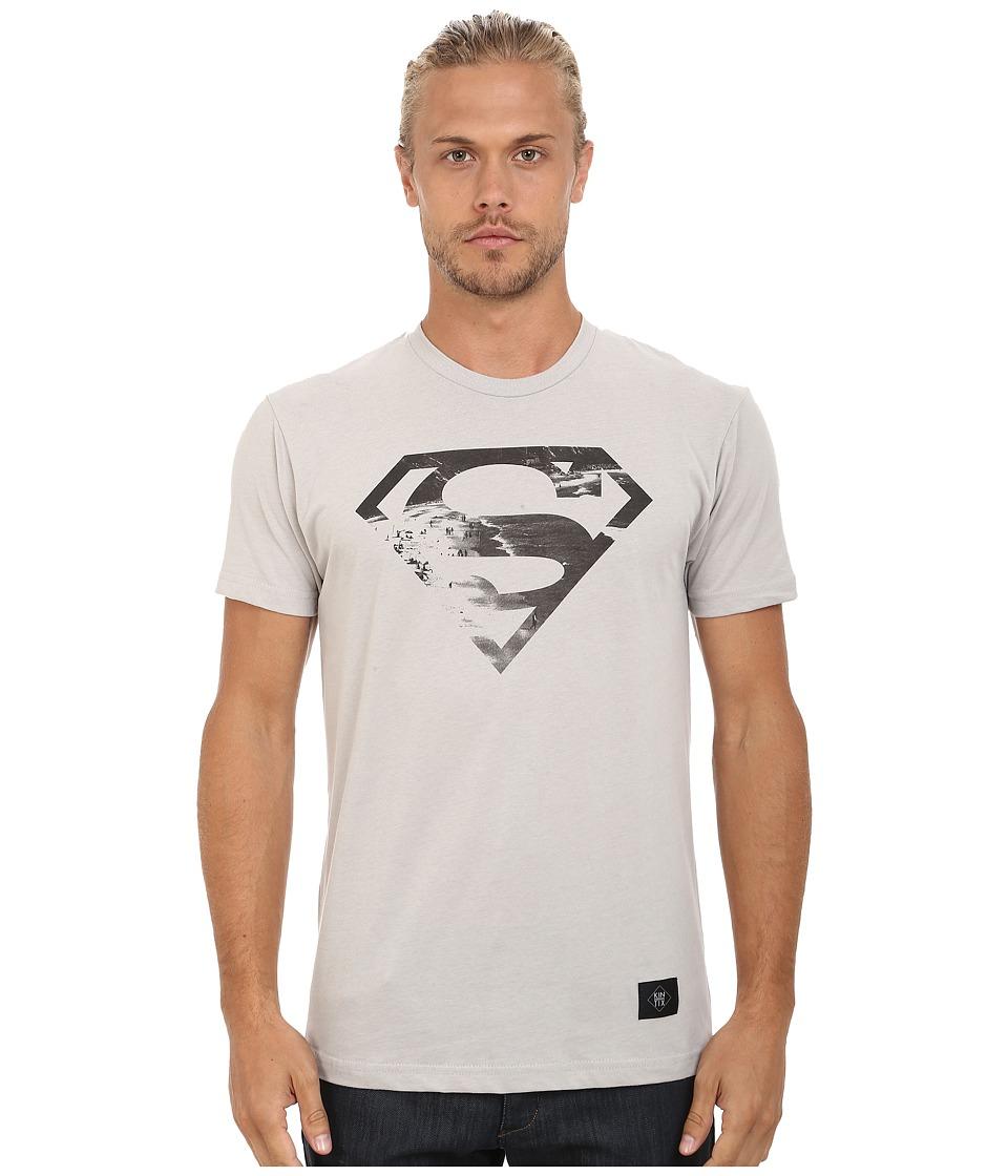 KINETIX Superman Beach Tee Grey Mens T Shirt