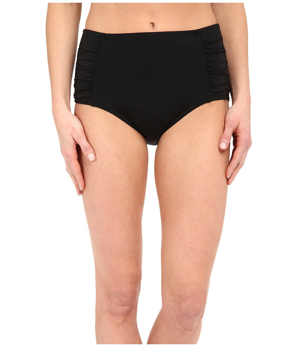 Jantzen Solids High Waisted Bottom Black Womens Swimwear