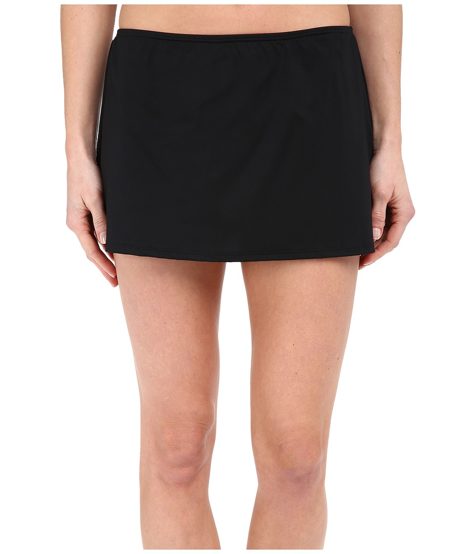 Jantzen Solids Skirted Bottom Black Womens Swimwear