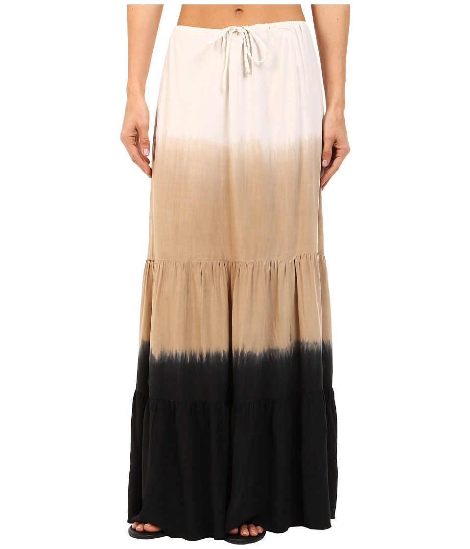 BECCA by Rebecca Virtue Sunrise Midnight Skirt Cover Up Natural/Black Womens Skirt