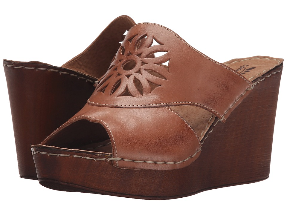 Spring Step Beshka Brown Womens Wedge Shoes