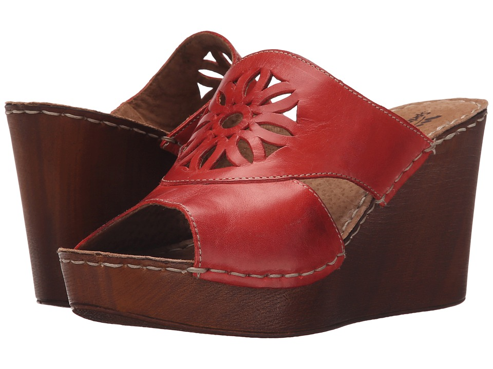 Spring Step Beshka Red Womens Wedge Shoes