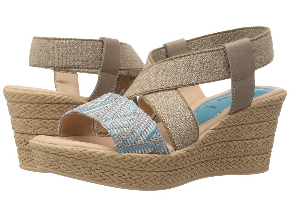 Spring Step Beach Sky Blue Womens Shoes