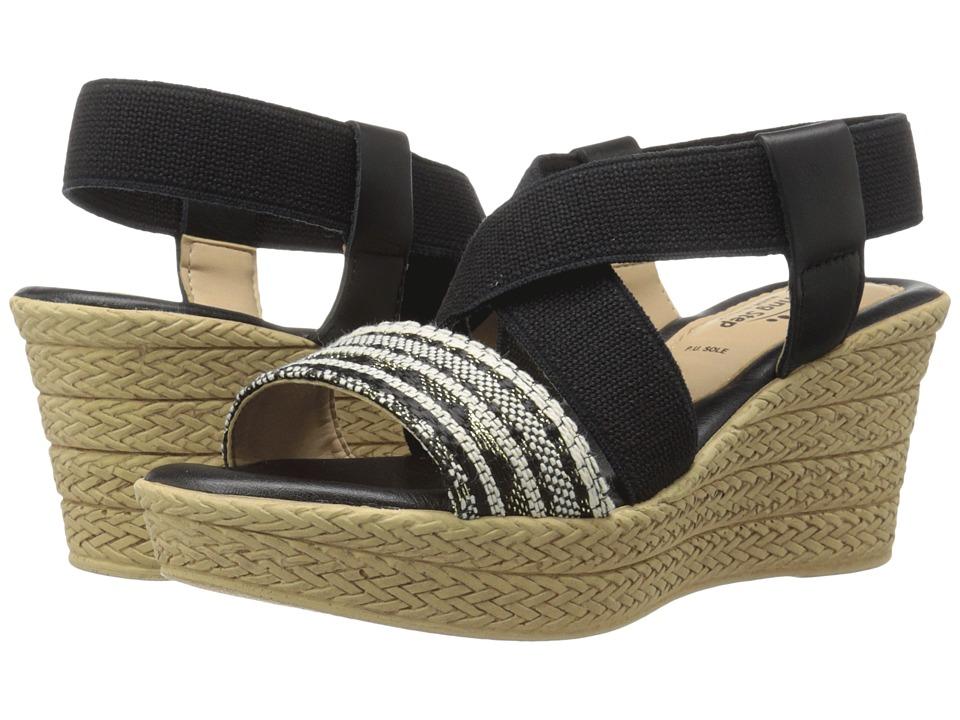 Spring Step Beach Black Multi Womens Shoes