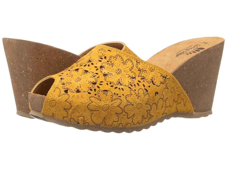 Spring Step Bojana Yellow Womens Shoes