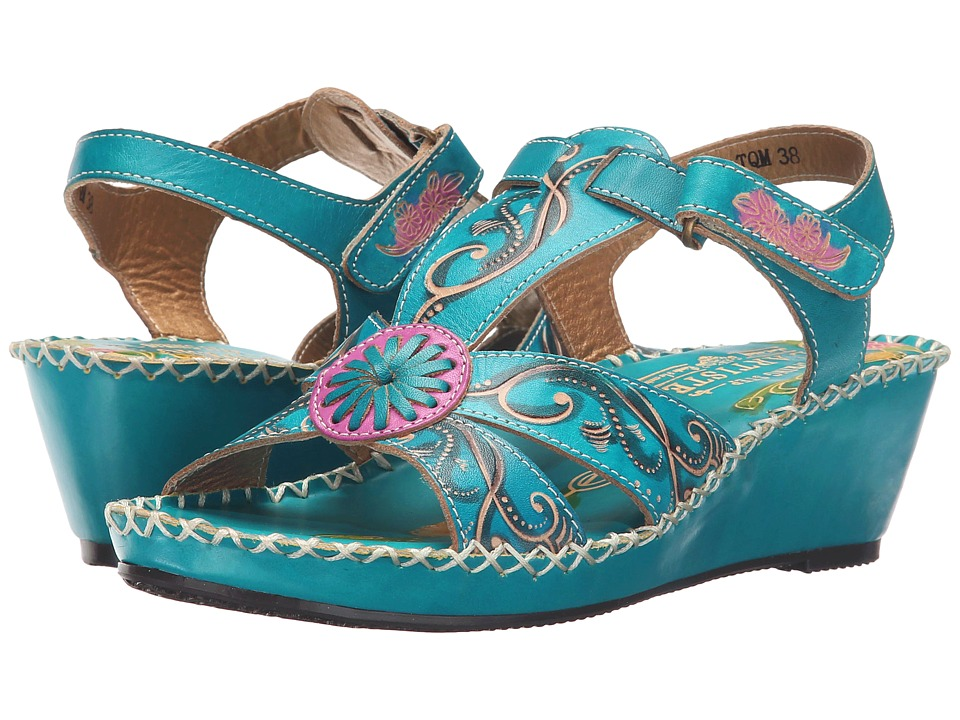 Spring Step Dinora Turquoise Womens Shoes