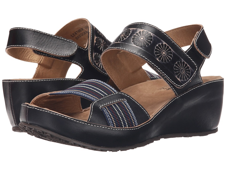 Spring Step Bazooka Black Womens Shoes