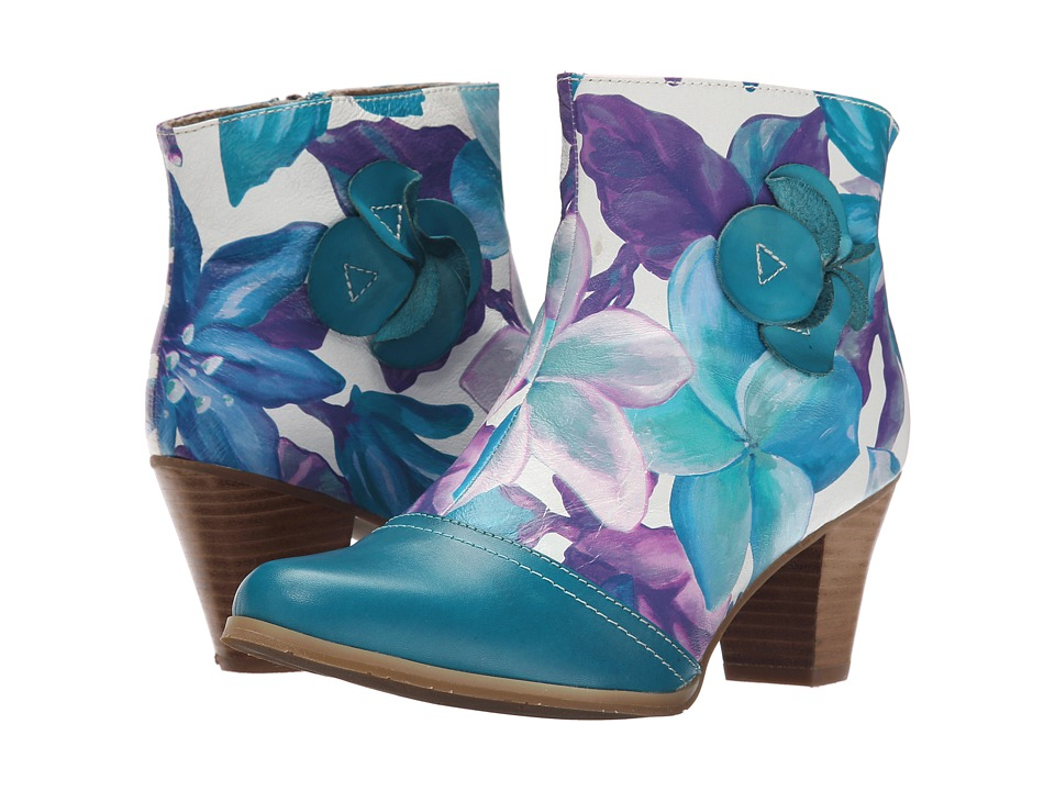 Spring Step Cheng Turquoise Womens Shoes