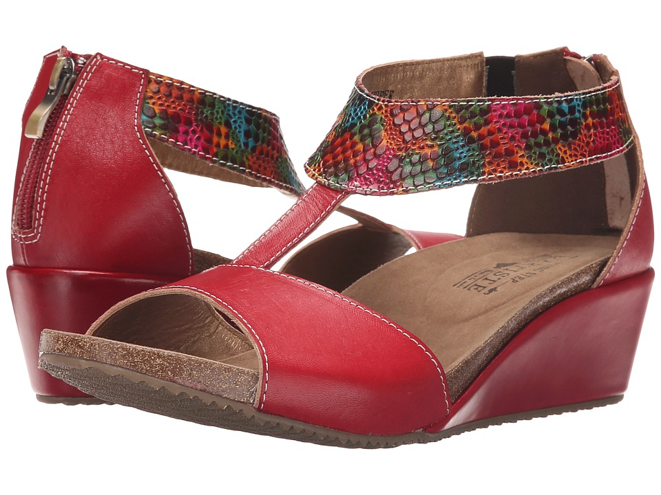 Spring Step Breckel Red Womens Shoes