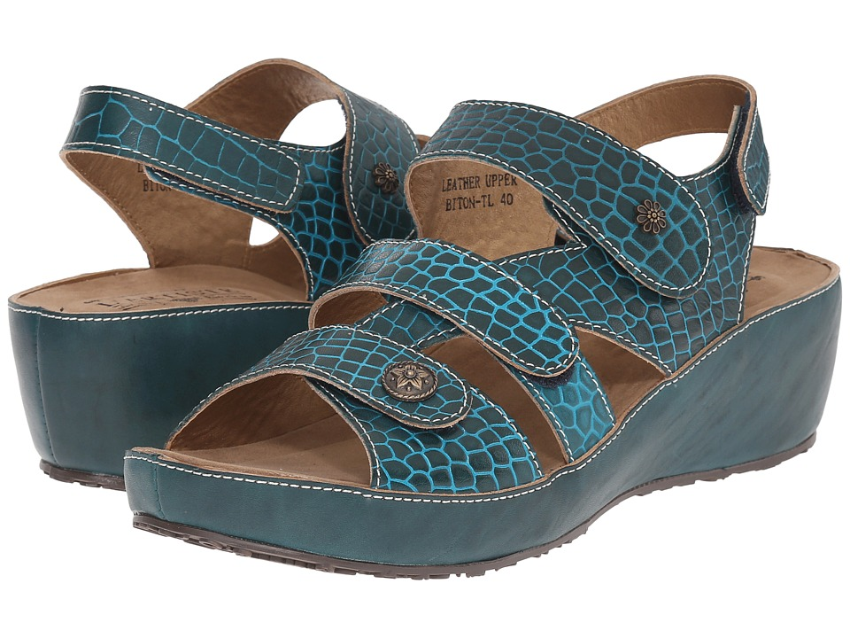 Spring Step Biton Teal Womens Shoes